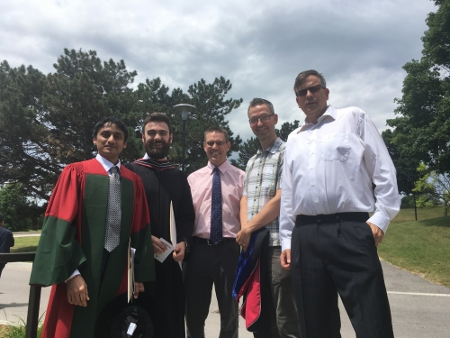 Twelve graduate degrees in Applied Mathematics were awarded at the 2017 spring convocation.