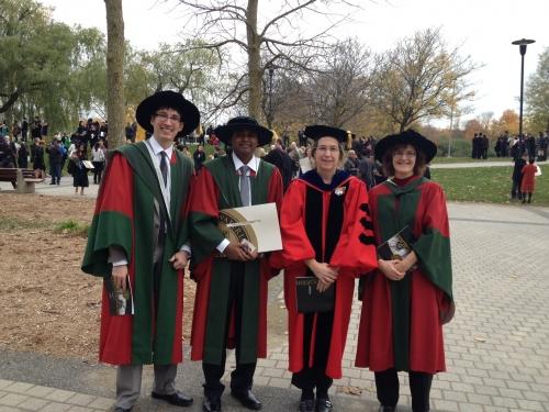 Graduates on convocation
