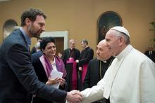 Achim Kempf with the Pope