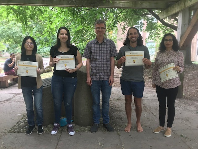 Graduate students receive TA research awards