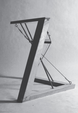 An photograph of a chair design and constructed in the 3B Chair Project.