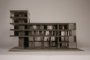 An photograph of a lasercut model.