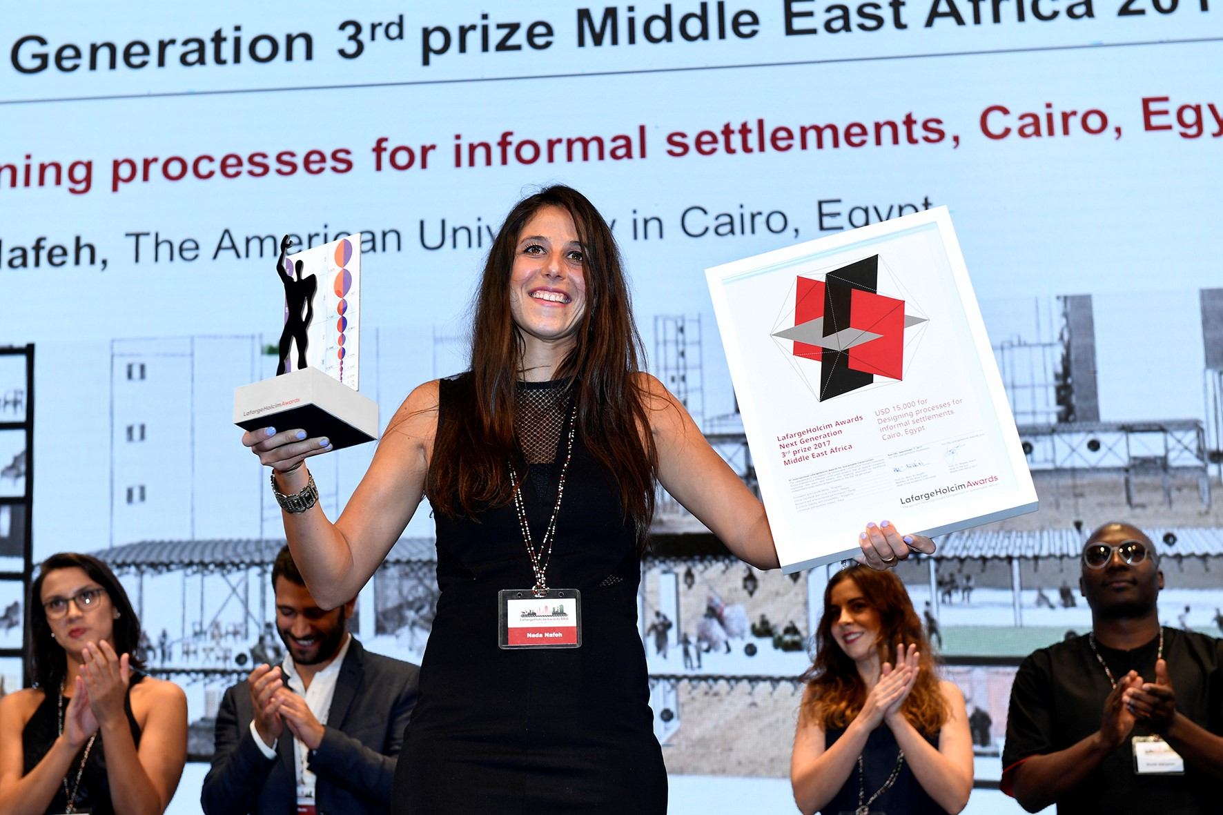 image of Nada Nafeh with her award