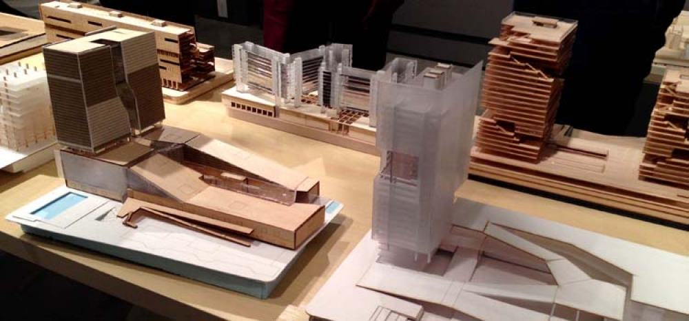 models displayed at Projects Review 2015
