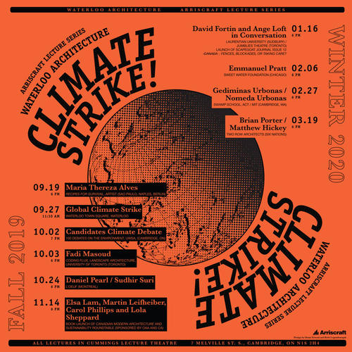 "Arriscraft ""climate Strike"" promotional poster"