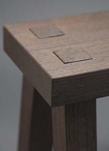 Close up of fine woodworking
