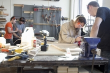 students in the workshop