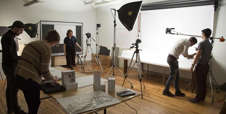 inside the photo studio