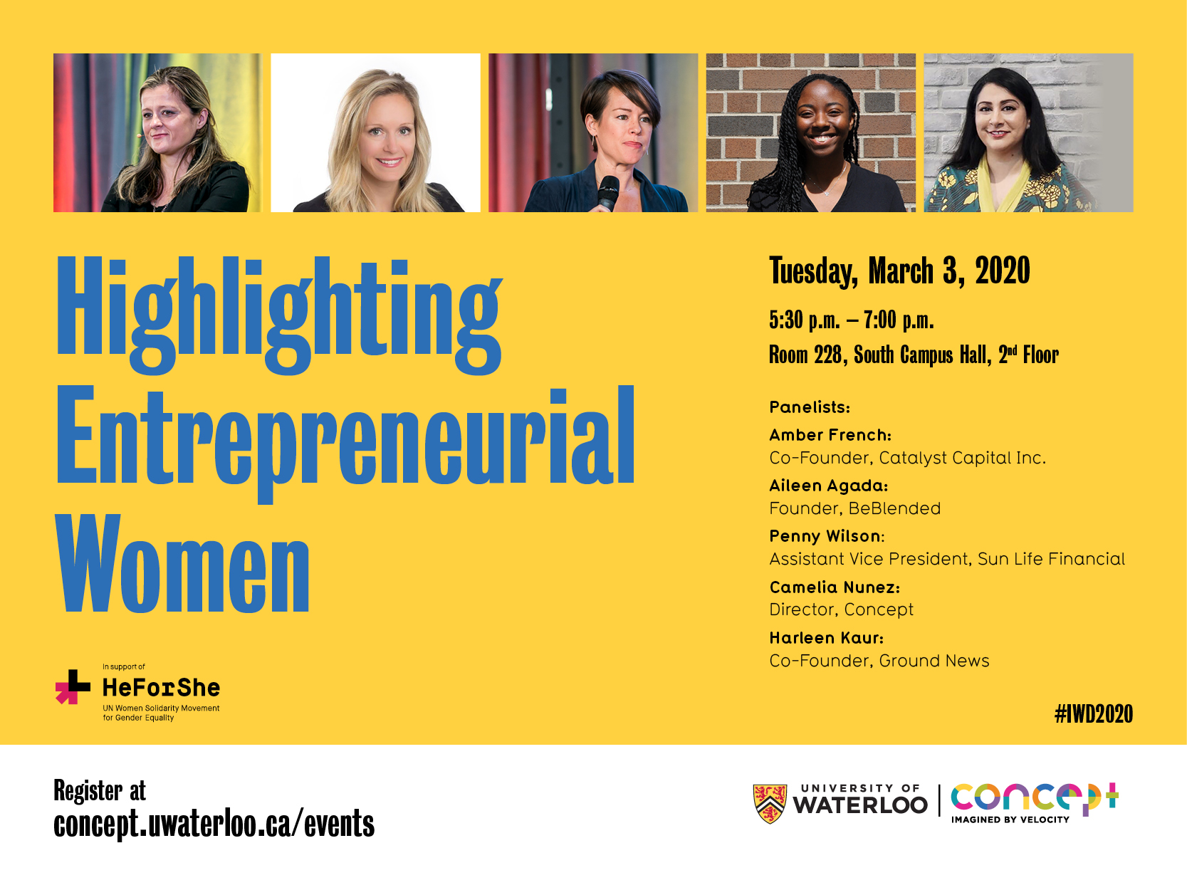 Highlighting Entrepreneurial Women #IWD2020  banner