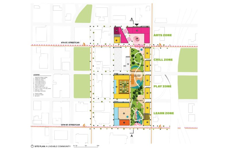 The Spine site plan