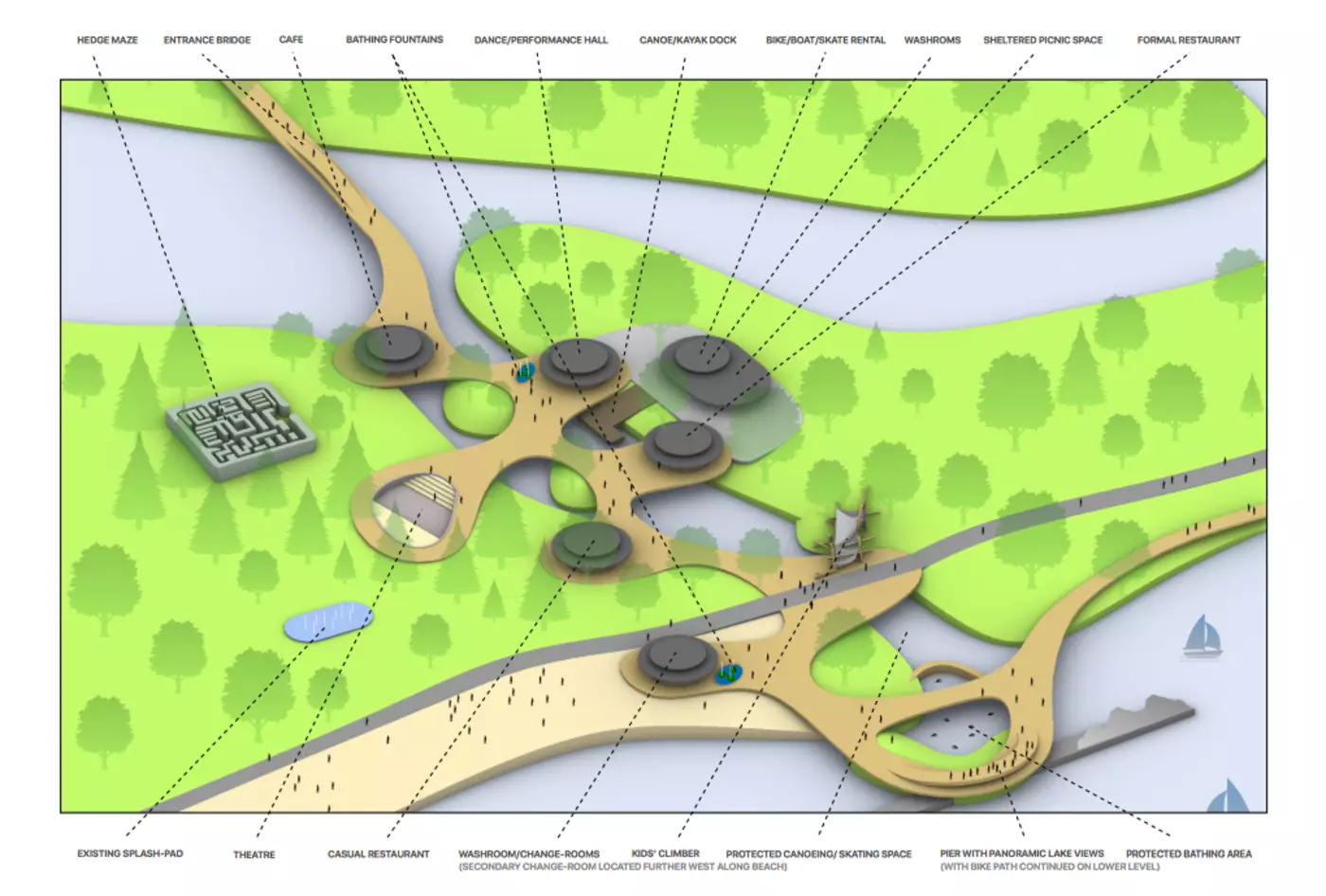 image of Adam Cohen's proposal for Toronto Islands