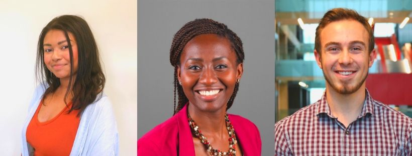 Cassie Myers, Folake Owodunni and Cole Powers headshots