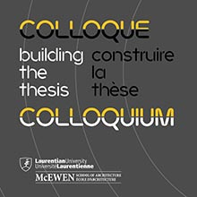 Building the Thesis Colloquim stylized text