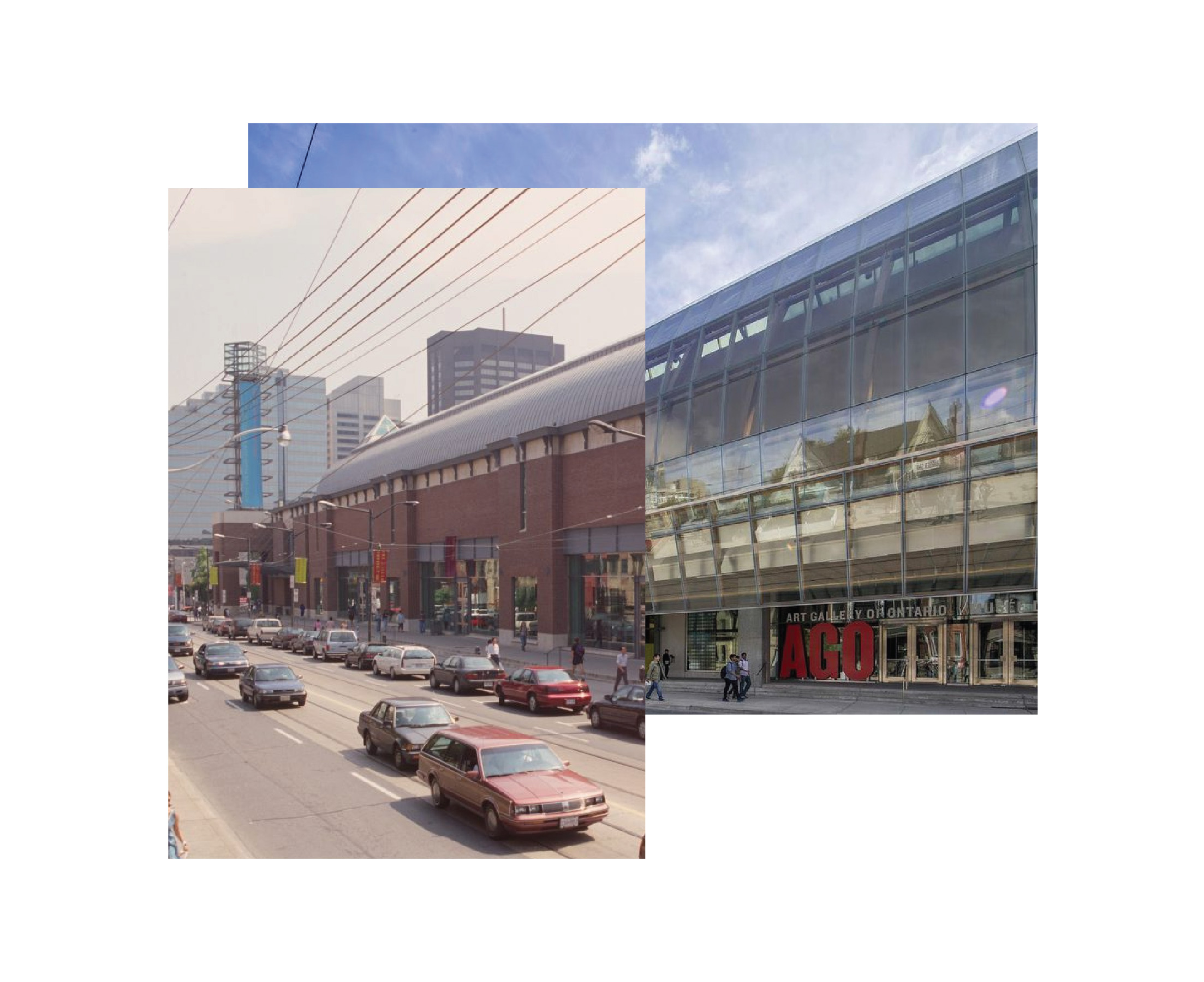 image of Art Gallery of Ontario exterior, past and present-day