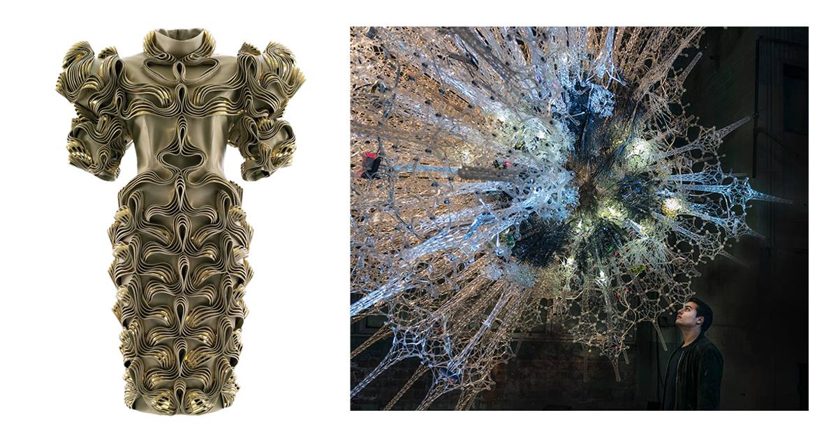 van Herpen dress and Beesley's immersive installation, Astrocyte