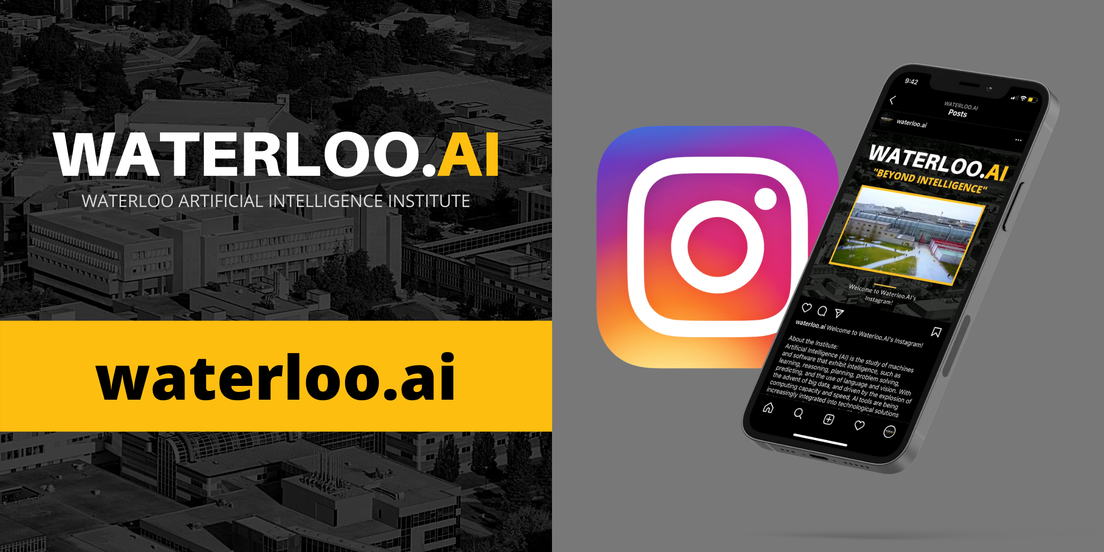 Image of Waterloo.AI Instagram Promotional Banner