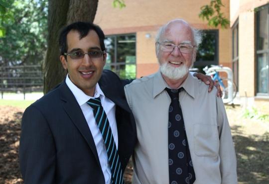 Vivek Ramakrishnan with Professor Francois Pare