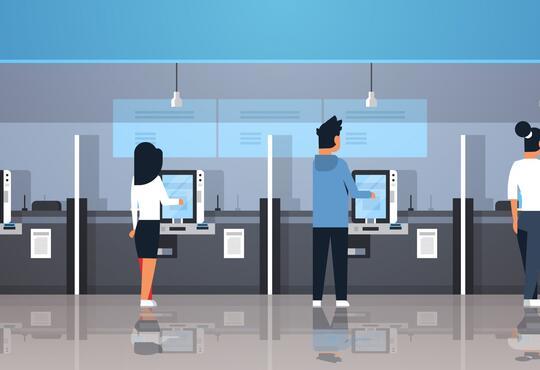 self-checkout machines