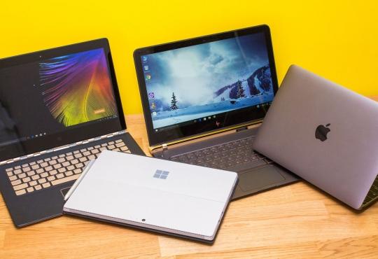 Hp, Lenovo, Apple, and Windows laptops