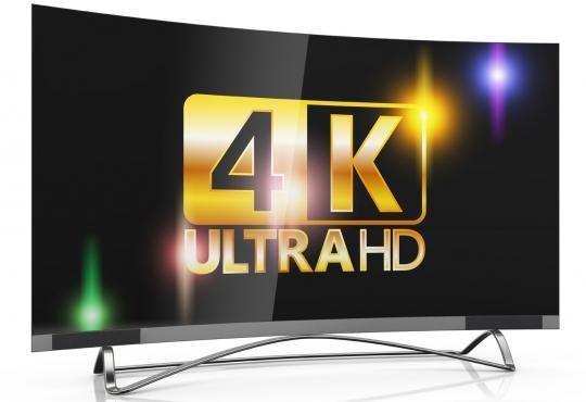 Television display that says '4k UltraHD'
