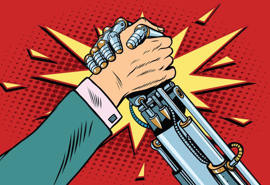 human vs. robot