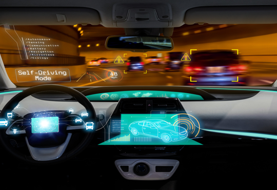Dashboard of a self-driving car