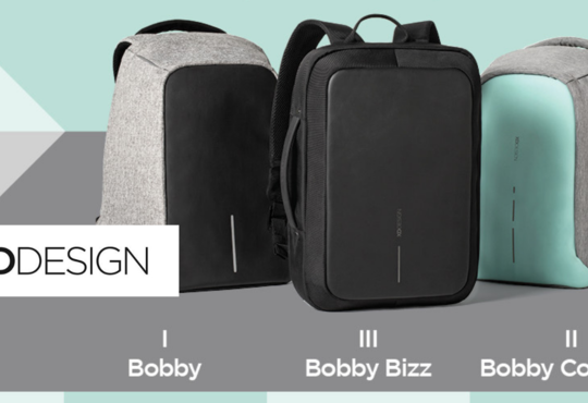 three versions of the bobby anti-theft backpack