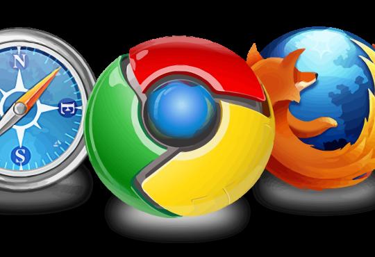 Logos for Chrome, Firefox, Internet Explorer, Safari, and Opera