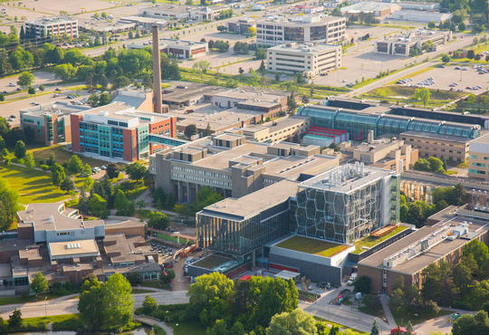 Landscape picture of the University of Waterloo campus