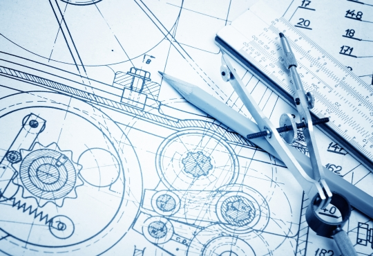 Blueprints for an engineering project