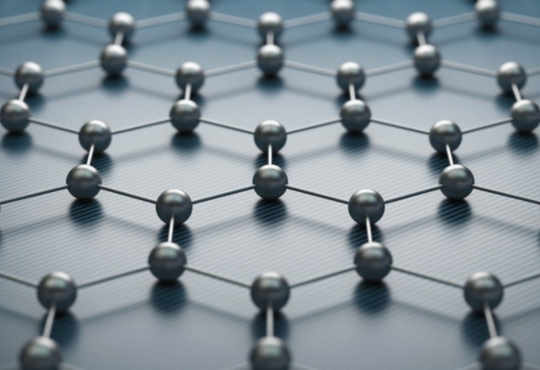 a web of graphene which looks like round magnets
