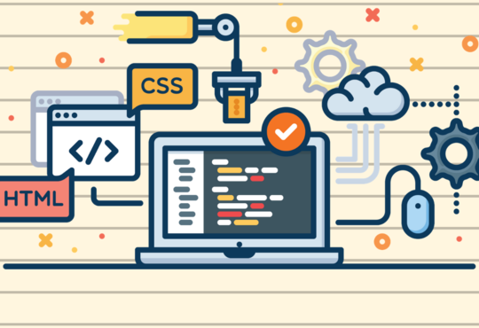 clipart of computer with html and css graphics