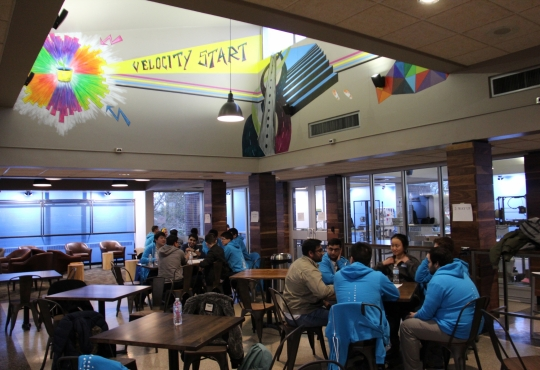 Students sitting in Velocity Start