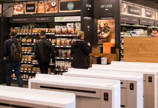 An image of the entrance to Amazon Go