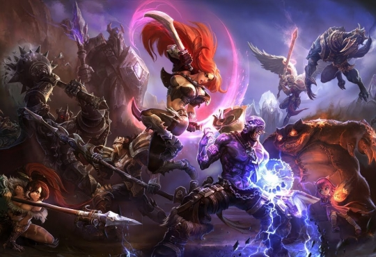 A collection of playable champions in the MOBA League of Legends
