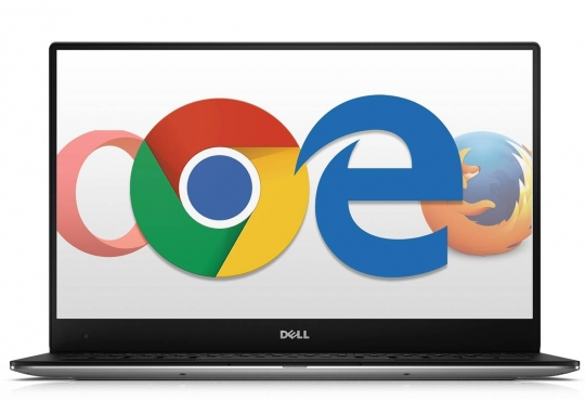 Laptop with a lot of different browsers