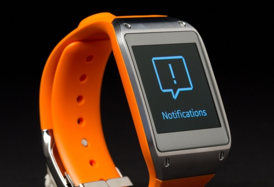 Orange and black smartwatch
