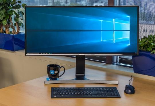 Computer monitor with windows logo