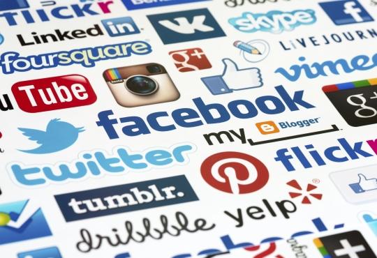 Various social media platform logos