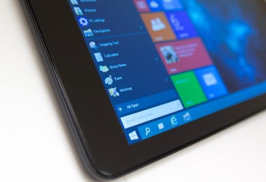 Tablet running windows 10