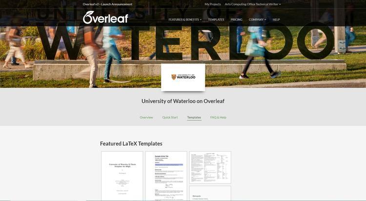 Overleaf | Arts Computing Office Newsletter | University of