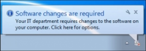 Software changes reminder