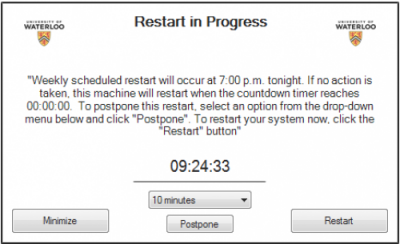 system restart pop-up for Windows