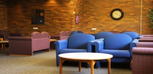 The lounge in the PAS building