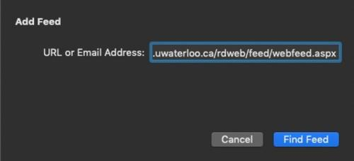 type the URL in the URL field