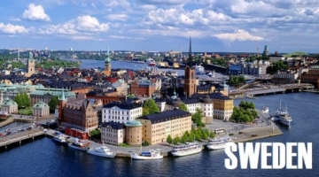 Sky view of Stockholm in Sweden