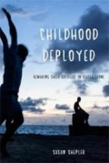 book cover with kids on beach