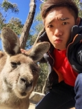 Man with kangaroo
