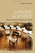 Book cover of Longing for Justice by Jennifer S. Simpson