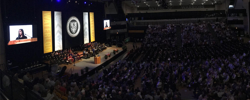 The stage at convocation